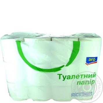 Туалетная бумага Aro двуслойная 135 листов, 24шт