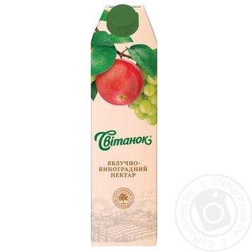 Скидка на Нектар Свитанок яблочно-виноградный 0,95л