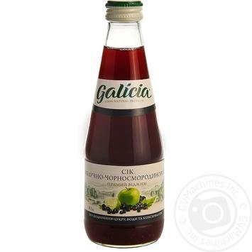 Сок Galicia яблочно-черносмородиновый 0,3л стекло