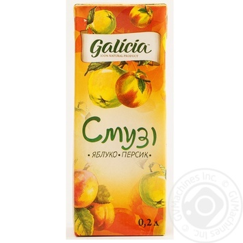 Смузі Galicia Яблуко-персик 0,2л - купити, ціни на Novus - фото 2