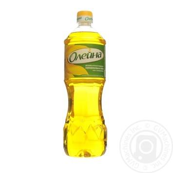 Масло подсолнечное Олейна Духмяна первого отжима 900мл - купить, цены на Novus - фото 1