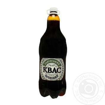 Квас Львовский Бочковой напиток брожения сильногазированный фильтрованный пастеризованный 2000мл - купить, цены на Novus - фото 1