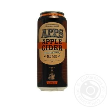 Сидр Apps Apple Класік з/б 5.5% 0,5л - купити, ціни на Novus - фото 1