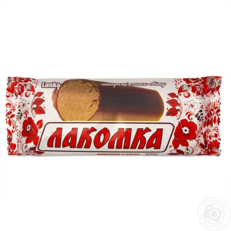 Мороженое Laska Лакомка в глазури 100г