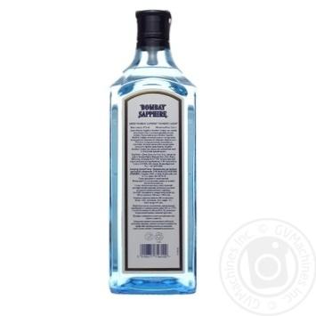 Джин Бомбей Сапфир 47% 1л - купить, цены на Novus - фото 2
