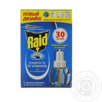 Жидкость от комаров Raid для электрофумигаторов 30 ночей 220мл - купить, цены на Novus - фото 3