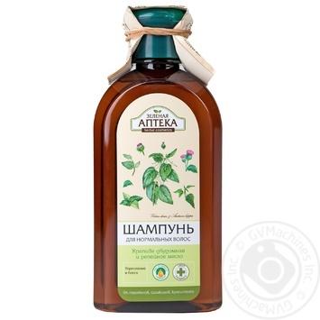 Шампунь Зеленая аптека крапива двудомная и репечное масло для нормальных волос 350мл