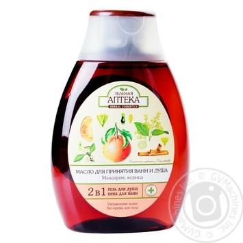 Масло для принятия ванн и душа Зеленая аптека Мандарин-Корица 250мл