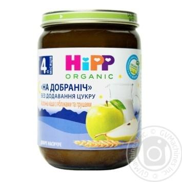 Каша Hipp спокойной ночи молочная с яблоками и грушами 190г