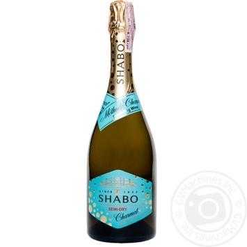 Вино игристое Shabo Charmat белое полусухое 10,5-13,5% 0.75л - купить, цены на Ашан - фото 1