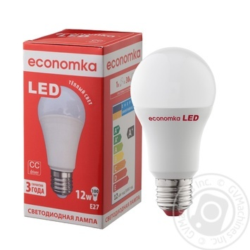 Ekonomka LED Lamp A60 12W E27  К2800 - buy, prices for Auchan - image 2