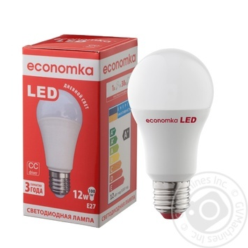 Лампа светодиодная Economka LED A60 12W E27 4200K