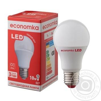 Лампа светодиодная Economka LED A60 10W E27 2800K - купить, цены на Ашан - фото 1