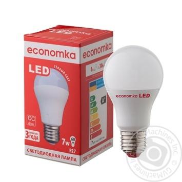 Лампа светодиодная Economka LED A60 7W E27 2800K