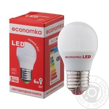 Лампа светодиодная Economka LED G45 6W E27 2800K