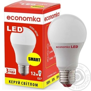 Лампа светодиодная Economka SMART LED A60 12W E27 2800K