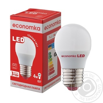 Лампа светодиодная Economka LED G45 4W E27 2800K