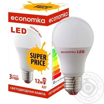 Лампа светодиодная Economka PROMO LED A60 12W E27 2800K