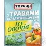 Приправа Торчин 10 овощей с травами средиземноморской кухни 50г