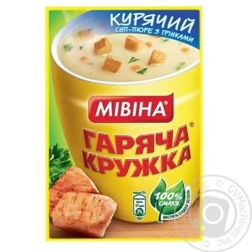 Mivina Garyacha kruzhka with croutons chicken soup-puree 12g