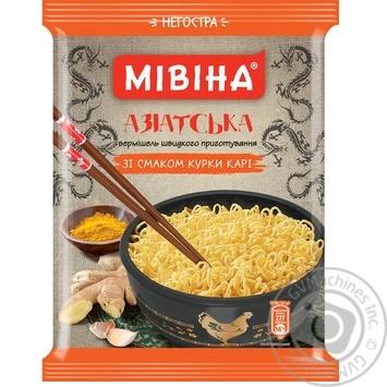 Вермишель Мивина Азиатская вкус курицы карри неострая 59.2г