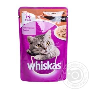 Корм для взрослых котов Whiskas с индейкой в соусе 100г - купить, цены на Ашан - фото 8