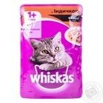 Корм для взрослых котов Whiskas с индейкой в соусе 100г - купить, цены на Ашан - фото 5