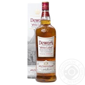Віскі Dewar's White Label 40% в коробці 1л - купити, ціни на МегаМаркет - фото 1