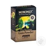 Чай зеленый Мономах Эксклюзив Ган Паудер китайский 90г - купить, цены на Novus - фото 1