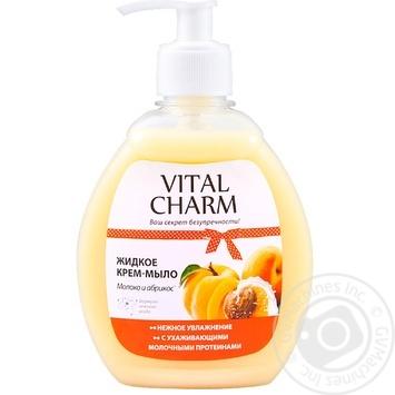 Крем-мыло Vital Charm молоко и абрикос 300мл