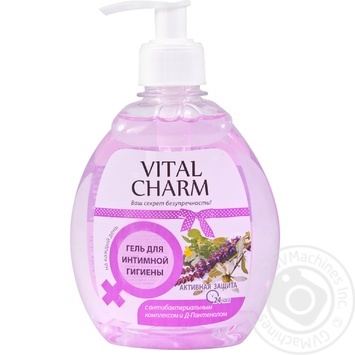 Gel Vital charm for an intimate hygiene 250ml