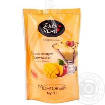 Крем-мыло жидкое Dolce Vero Манговый мусс 500мл - купить, цены на Фуршет - фото 1