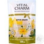 Крем-мило Квіти тіаре і карамболь дой-пак VITAL CHARM 500мл
