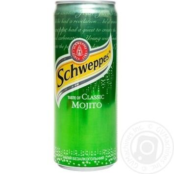 Напиток Schweppes Classic Mojito сильногазированый ж/б 0,33л