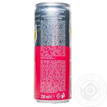 Напиток Schweppes Pink Grapefruit сильногазированный сокосодержащий 0,33л - купить, цены на Ашан - фото 3