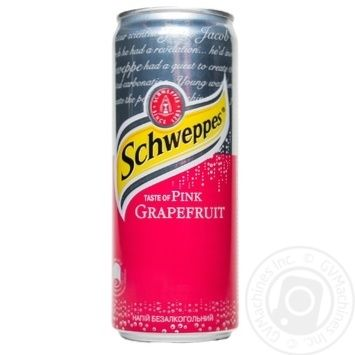 Schweppes Pink Grapefruit non-alcoholic beverage 330ml