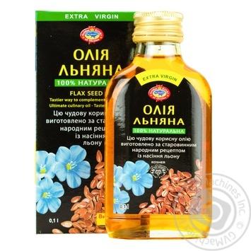 Масло льняное Golden Kings of Ukraine экстра вирджин 100мл - купить, цены на Таврия В - фото 1