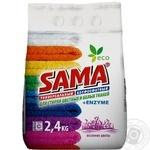 Порошок стиральный Sama Весенние цветы бесфосф авт 2,4кг