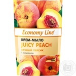 Economy line Cream-soap Juicy peach with glycerin 460g