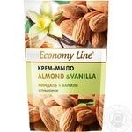 Economy line Almonds and vanilla Cream-soap with glycerin 460g