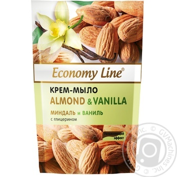 Economy line Almonds and vanilla Cream-soap with glycerin 460g - buy, prices for Auchan - photo 1
