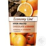 Крем-мыло Economy line Шоколад и апельсин с глицерином 460г