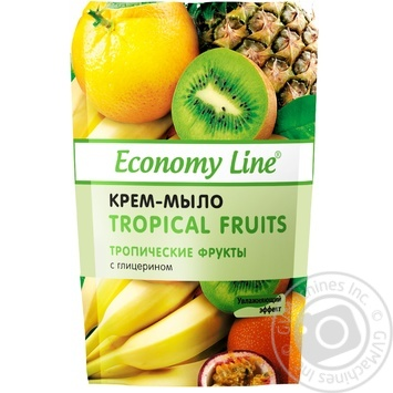 Крем-мыло Economy Line Тропические фрукты с глицерином 460г - купить, цены на Ашан - фото 1