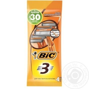 Бритва мужская BIC 3 4шт - купить, цены на Novus - фото 1