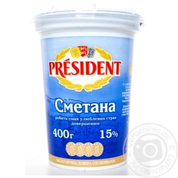 Сметана Президент 15% 400г - купить, цены на Фуршет - фото 7
