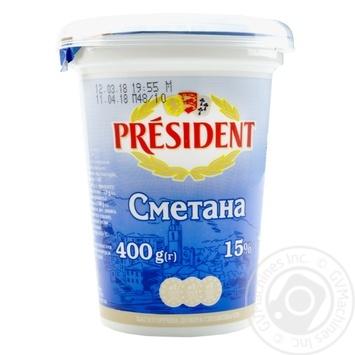 Сметана Президент 15% 400г - купить, цены на Фуршет - фото 4
