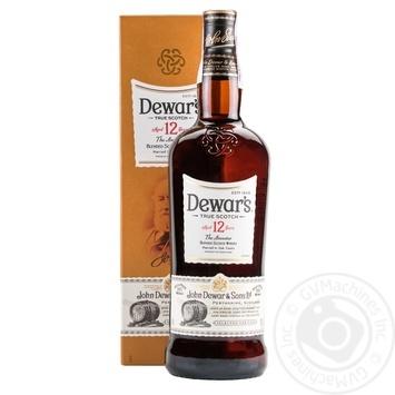 Віскі Dewar's Special Reserve 12 років 40% в коробці 1л - купити, ціни на МегаМаркет - фото 1