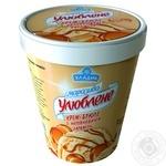 Мороженое Хладик Любимое со вкусом крем-брюле и карамелью 500г