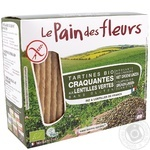 Хлебцы Le Pain des fleurs органические из чечевицы без глютена 150г