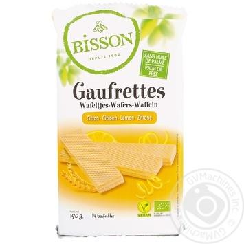 Вафли Bisson органические с лимоном 190г